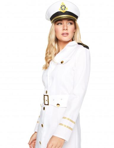 Naisten valkoinen merikapteeniasu-2