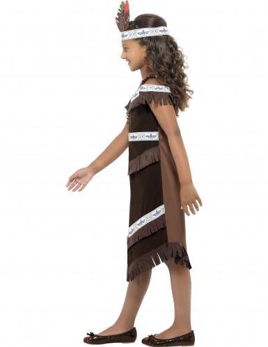 Ruskea intiaanimekko lapsille-2