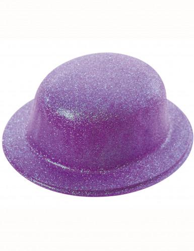Hohtavan violetti lierihattu