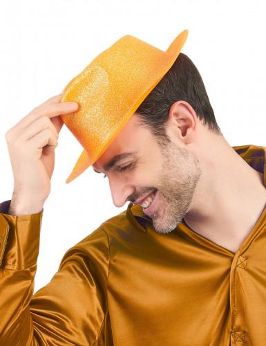 Oranssi paljettihattu-1