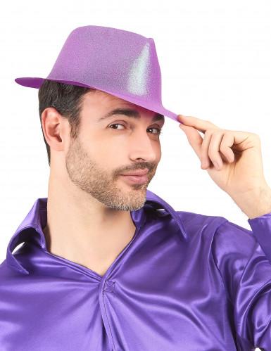 Violetti paljettihattu aikuiselle-1