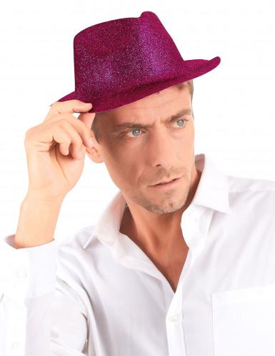 Aikuisten paljettikoristeltu vaaleanpunainen hattu-2