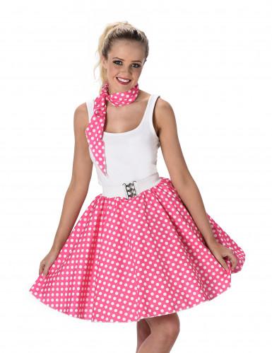 50- luvun pinkki tanssihame-1