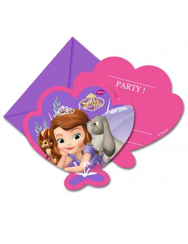 Prinsessa Sofia™ -kutsukortit ja kuoret, 6 kpl