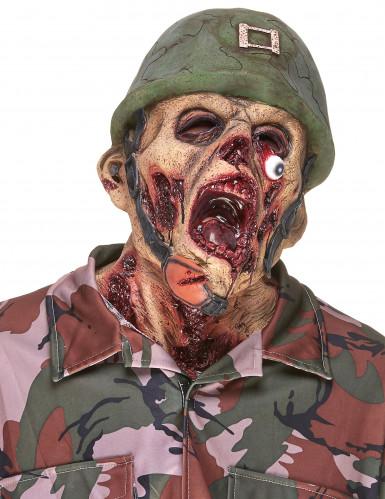 Aikuisten lateksinaamari - zombisotilas