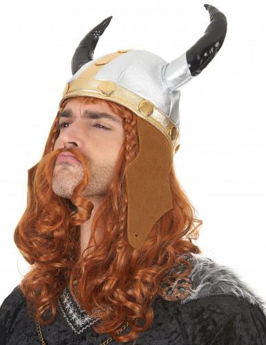 Metallinvärinen viikingin kypärä aikuisille-1