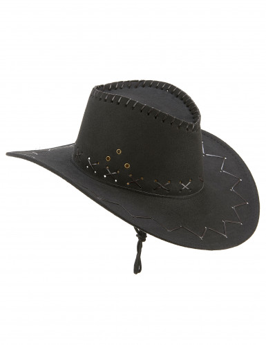Aikuisten musta mokkapintainen hattu Cowboy