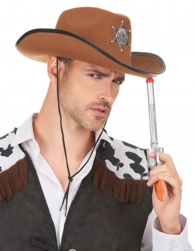 Ruskea Sheriffin hattu aikuisille-2