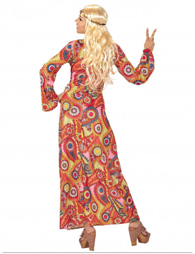 Värikäs hippimekko naisille-1