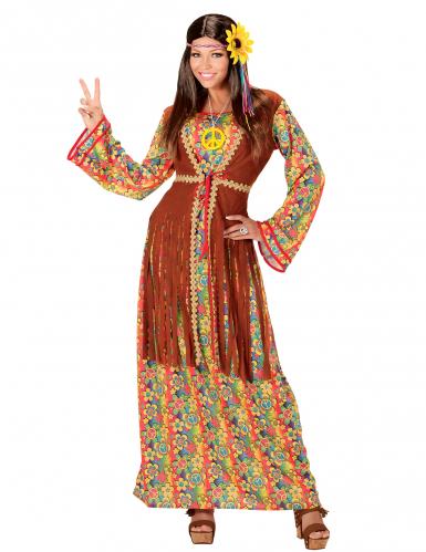 Naisen hapsuinen hippimekko
