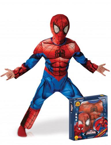 Ultimate Hämähäkkimies™ - Naamiaisasu lapsille lahjapakkauksessa