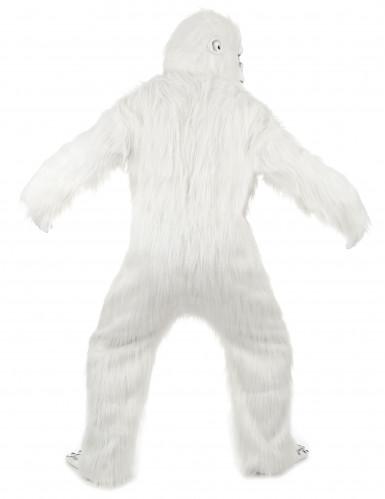 Aikuisen valkoinen Jeti-naamiaisasu - luksus-2