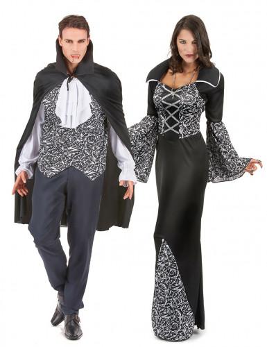 Mustavalkoinen vampyyripari -pariasu aikuisille
