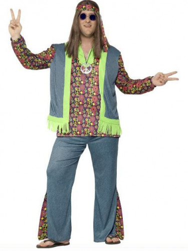 Miesten värikäs hippiasu