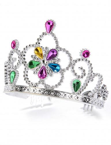 Aikuisten ja lasten monivärinen prinsessan tiara