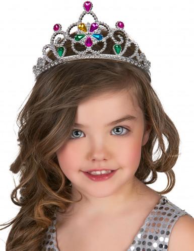 Aikuisten ja lasten monivärinen prinsessan tiara-1