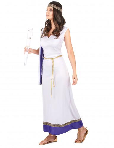 Violetti, pitkä roomalaisen naisen asu