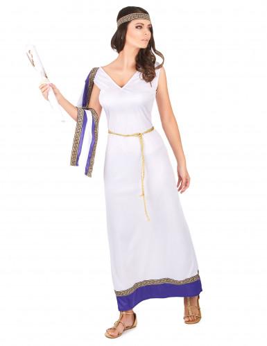 Violetti, pitkä roomalaisen naisen asu-1