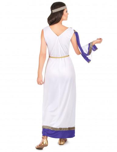 Violetti, pitkä roomalaisen naisen asu-2