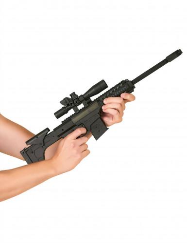 Muovinen konekivääri ääniefekteillä lapsille-1