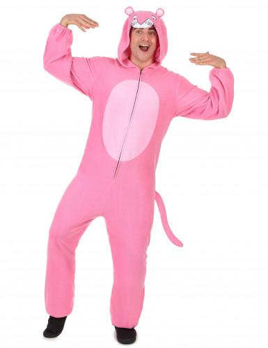 Hupullinen vaaleanpunainen pantterihaalari