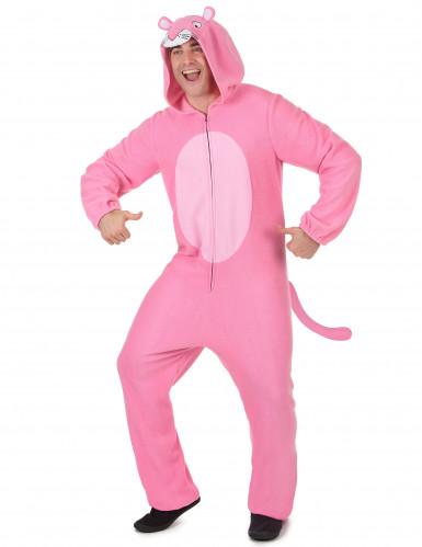 Hupullinen vaaleanpunainen pantterihaalari-1