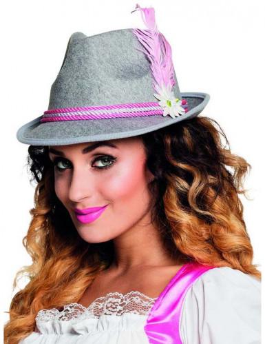 Harma ja pinkki hattu Oktoberfest-juhliin