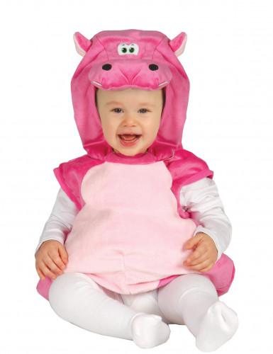 Vaaleanpunainen virtahepopuku vauvalle
