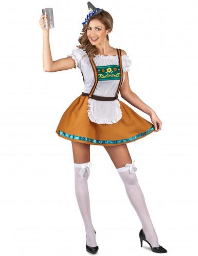 Naisten Oktoberfest-asu toffeenruskea