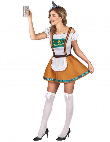 Naisten Oktoberfest-asu toffeenruskea-1