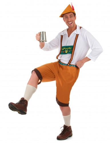 Miesten Oktoberfest-asu ruskea