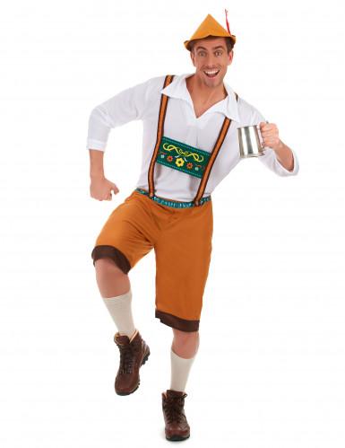 Miesten Oktoberfest-asu ruskea-1