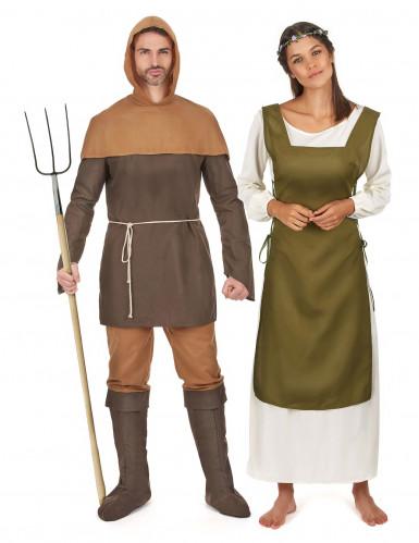 Keskiaikaiset maanviljelijät - pariasu aikuisille