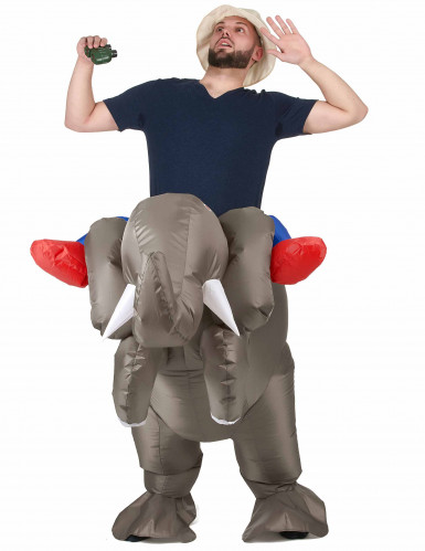 Aikuisten puhallettava elefanttipuku-1