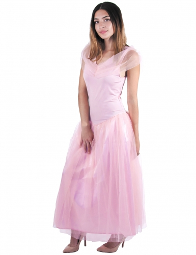Romanttinen vaaleanpunainen prinsessa-asu naiselle