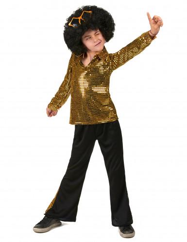 Kultainen paljetti discoasu lapsille