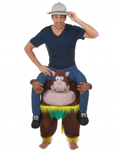 Mies apinan selässä - puku aikuisille-1