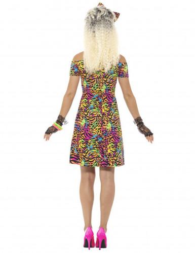 80-luvun värikäs leopardimekko naiselle-3