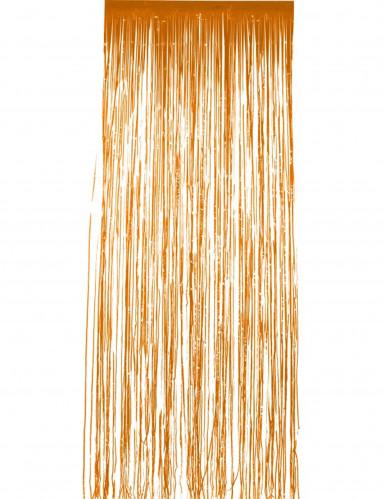 Säihkyvä oranssi verho
