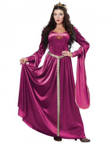 Neito Fuksia - Keskiaikaisen prinsessan naamiaisasu aikuisille