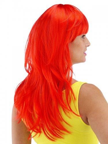 Punainen otahiuksellinen peruukki naiselle -1
