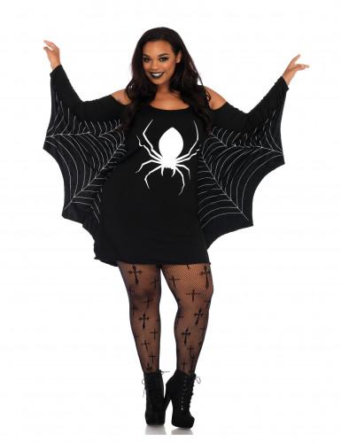 Hämähäkin plus- kokoinen naamiaisasu naiselle
