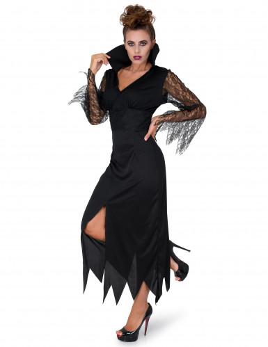 Mustapitsinen noita-mekko aikusille