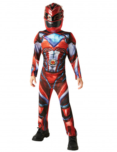 Punainen Power Rangers™ Deluxe -naamiaisasu lapsille-1