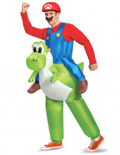 Mario ja Yoshi puhallettava Nintendo® asu aikuisille