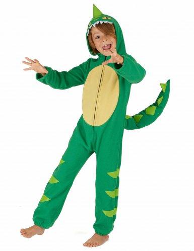 Vihreä dinosaurusasu lapsille-1