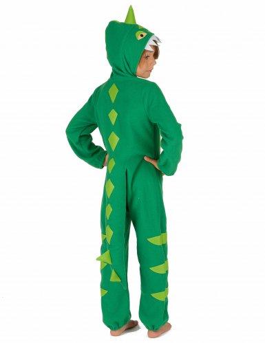 Vihreä dinosaurusasu lapsille-2