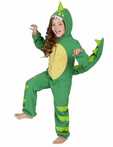 Vihreä dinosaurusasu lapsille-3