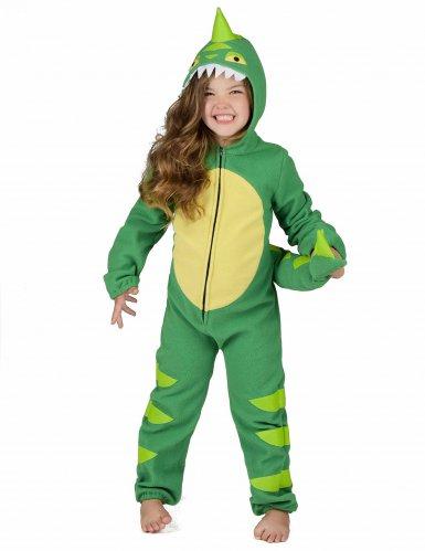 Vihreä dinosaurusasu lapsille-5