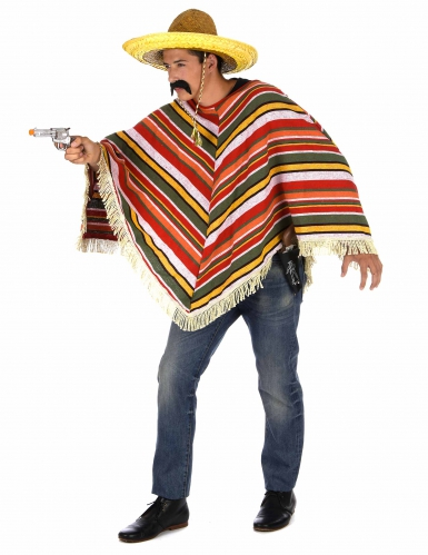 Meksikolais-tyylinen poncho aikuisille-1